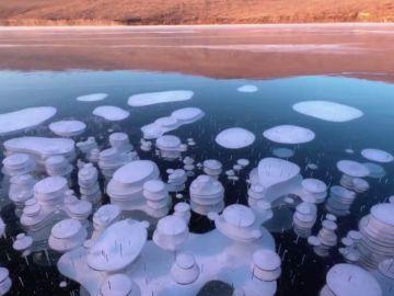 Burburjas de metano en Rusia