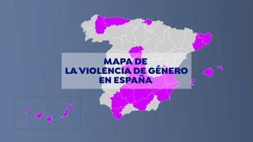Día contra la violencia de género 2020: El mapa de la violencia de género en España