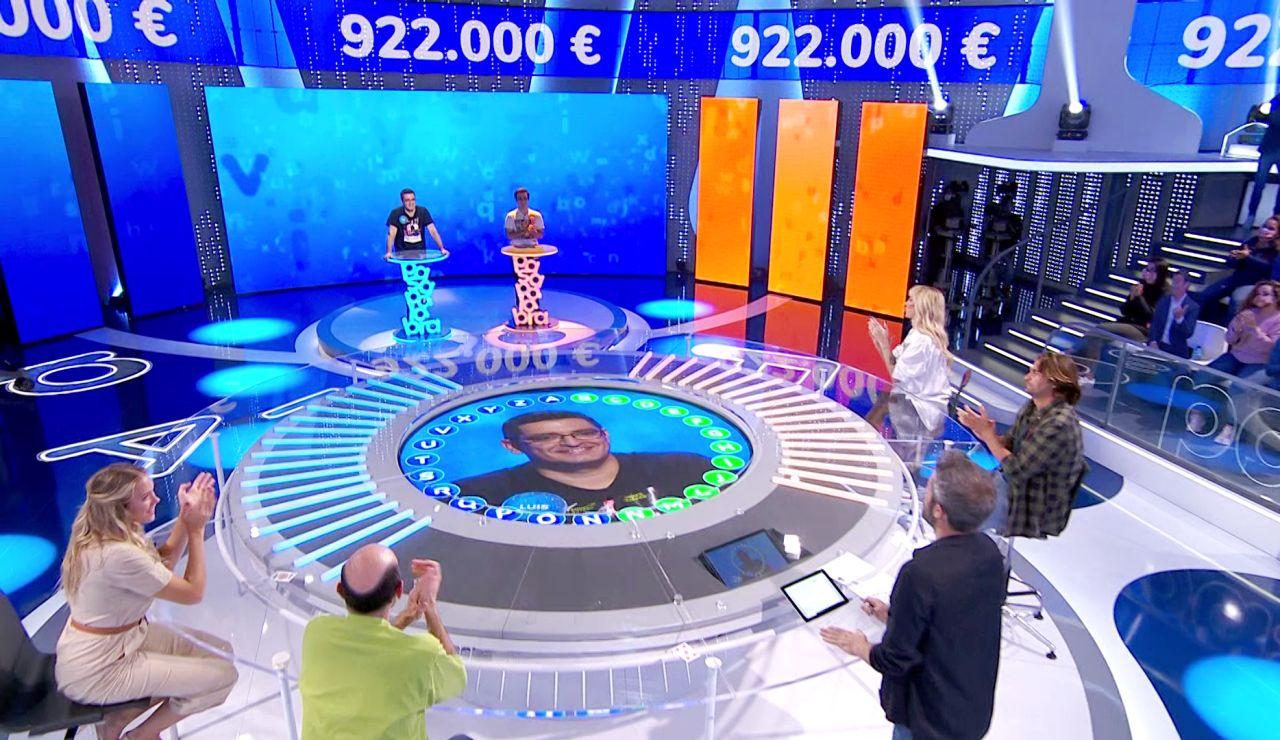 Explosivo arranque de Luis en 'El Rosco' obligando a Pablo a una gran respuesta: ¿Gana alguno el bote?