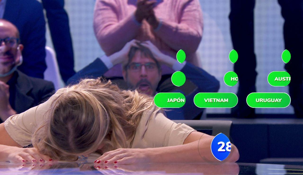 Patricia Montero, exhausta tras irse a 'El quinto pino' en 'Pasapalabra'
