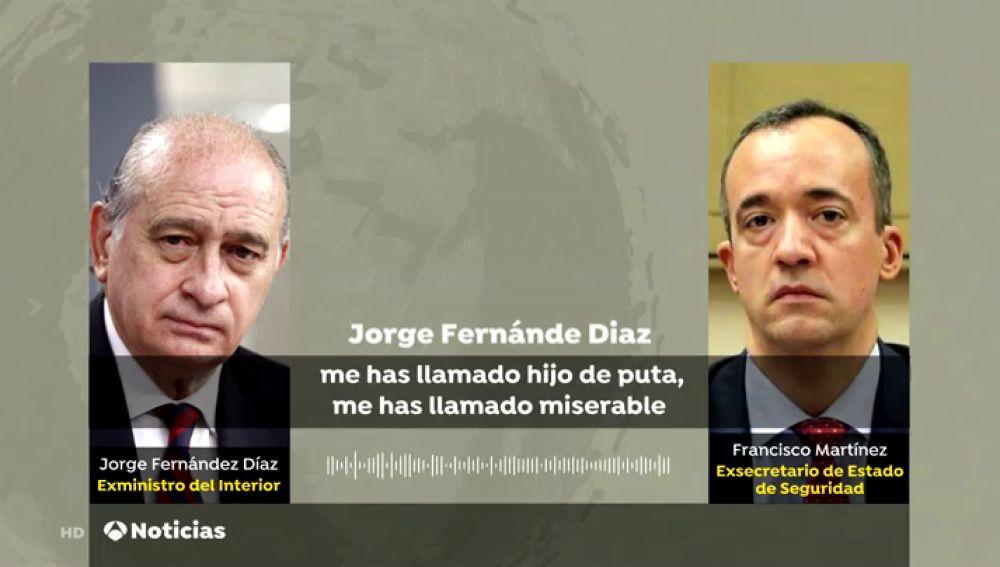 Los tensos audios del careo entre Jorge Fernández Díaz y el que fue su número dos