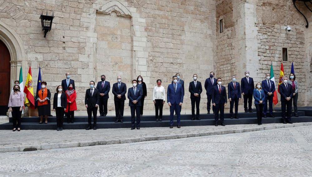 Pedro Sánchez y Giuseppe Conte presiden en Palma la XIX Cumbre bilateral de España e Italia con 19 ministros