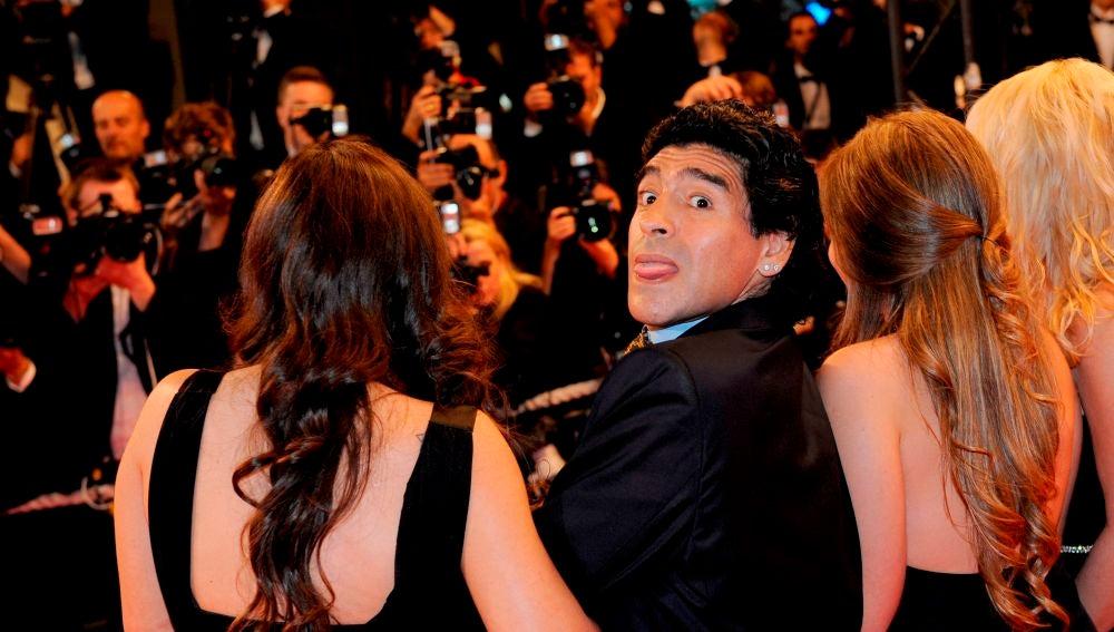 Maradona, en un acto público
