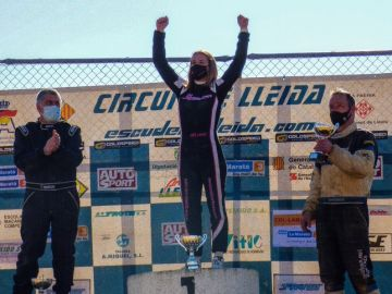 Ares Lahoz, la primera mujer en proclamarse campeona de España de autocross de la División III