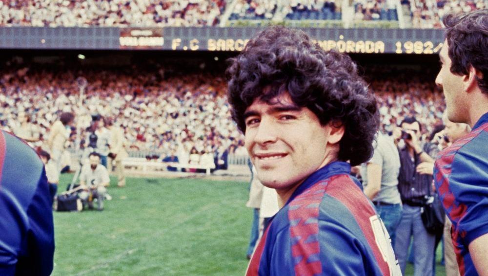 Diego Armando Maradona, en su época en el Barcelona