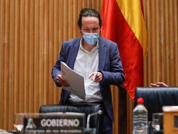 Pablo Iglesias, ante la comisión del Congreso de los Diputados.