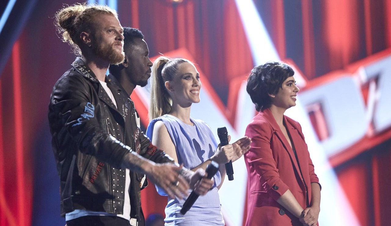 Curricé, Kelly, Johanna Polvillo y Paula Espinosa, se convierten en los finalistas de 'La Voz'