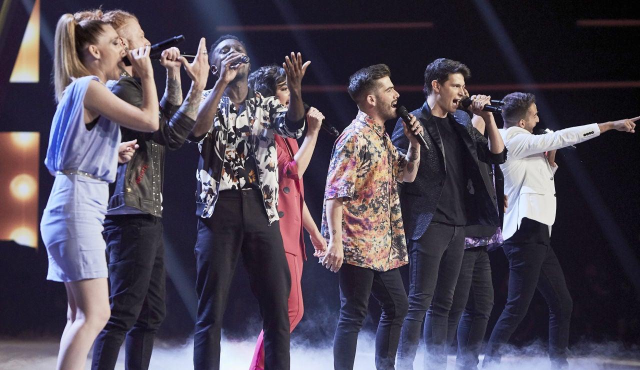'Otra vez' resuena en el plató en las voces de los 8 semifinalistas y el recuerdo de los 52 talents de 'La Voz 2020'