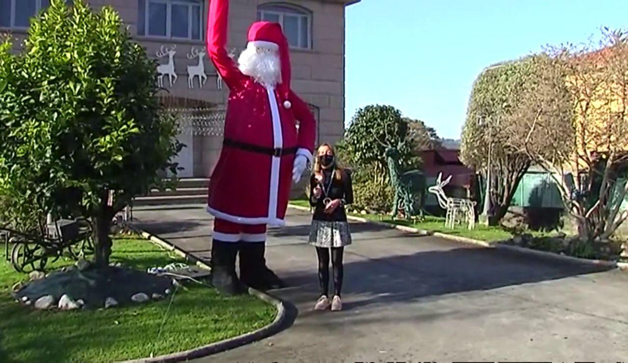 Papá Noel gigante en Galicia