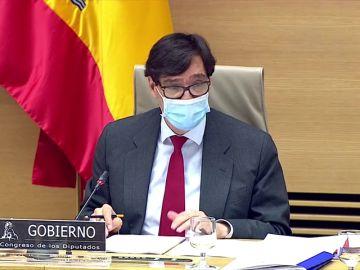 El ministro de Sanidad, Salvador Illa, explica hoy el plan de vacunación contra el coronavirus, streaming en directo
