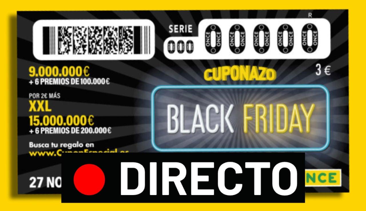Cuponazo Black Friday ONCE 2020: Comprobar número y resultado del sorteo de hoy, en directo