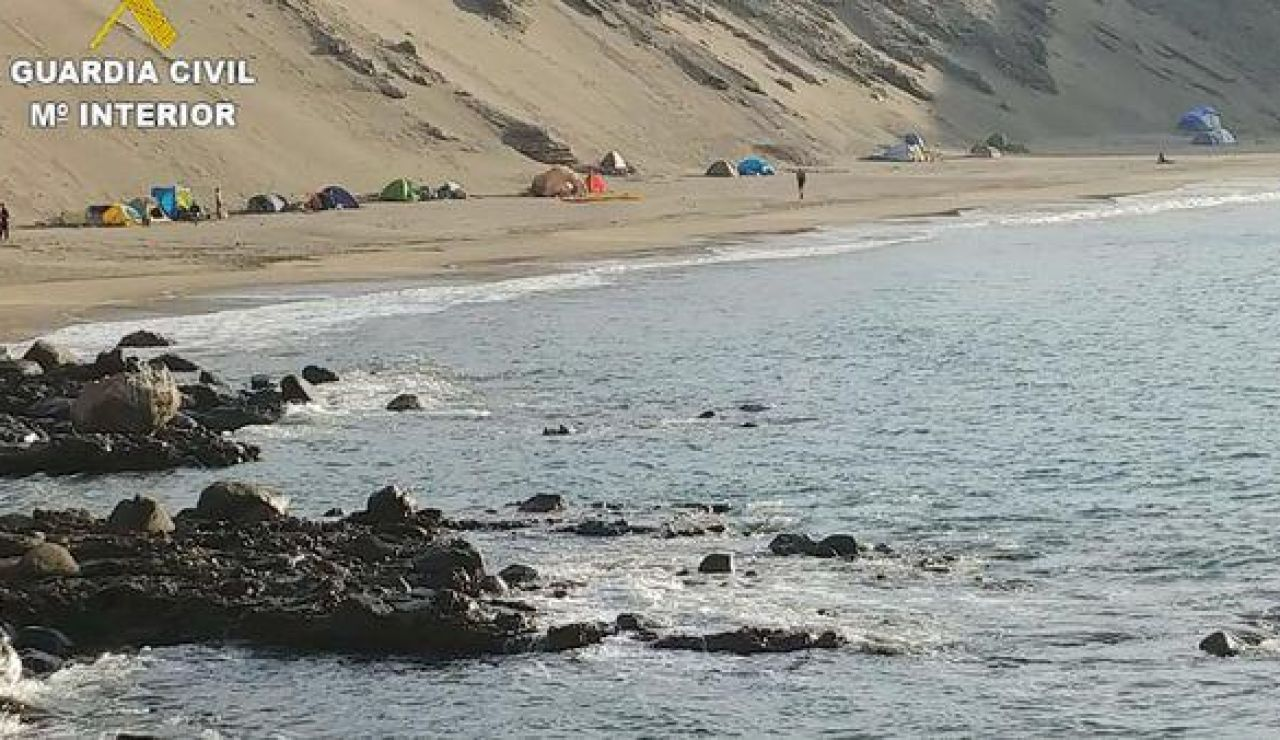 Acampada ilegal en Gran Canaria. Coronavirus y ley de costas