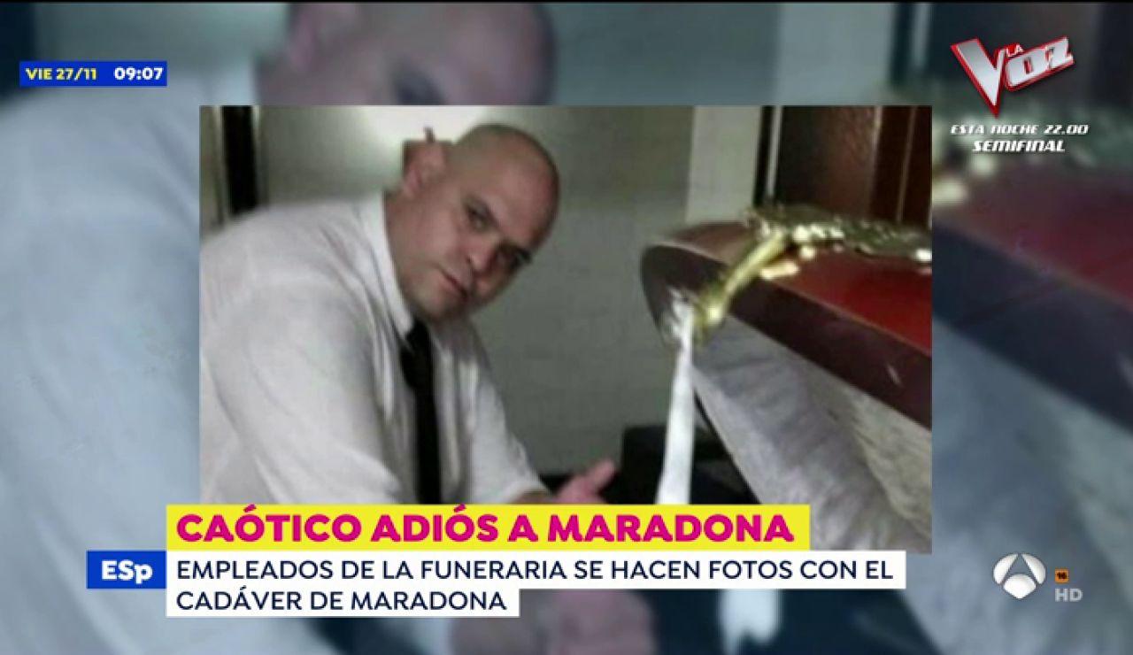 Sale a la luz una foto del cadáver de Maradona que se hizo un trabajador de la funeraria
