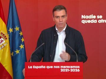 """Pedro Sánchez invita a """"regalar seguridad"""" esta Navidad para frenar el coronavirus"""