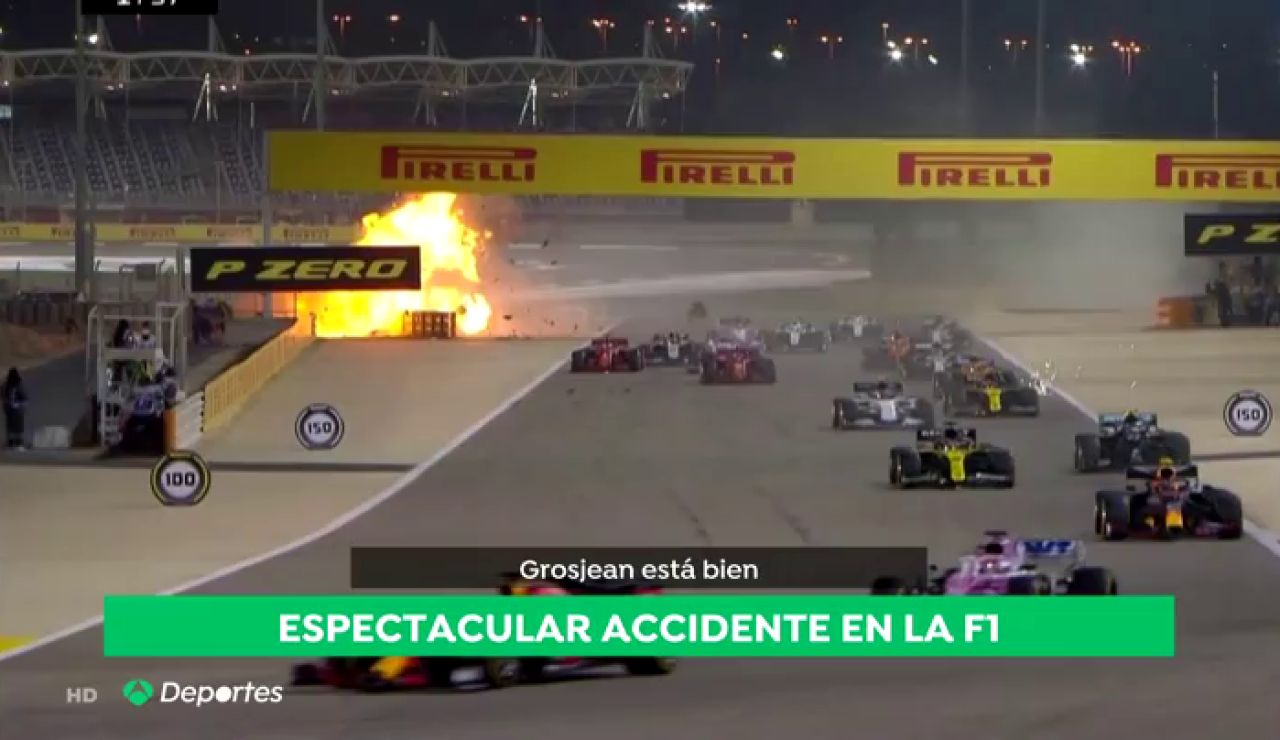 ACCIDENTE GROSJEAN INFO DEPORTES