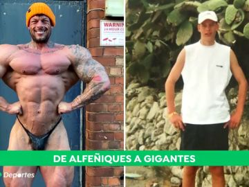 El increíble cambio de los dos culturistas más altos del mundo: ingieren 6.500 calorías diarias
