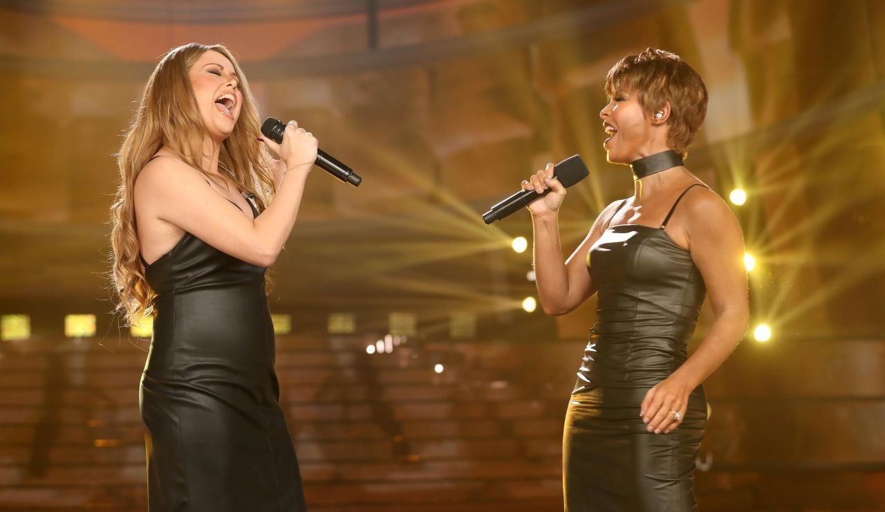 Cristina Ramos y Soraya Arnelas hacen magia con 'When you believe' como Mariah Carey y Whitney Houston