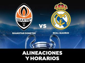 Shakhtar Donetsk - Real Madrid: Horario, alineaciones y dónde ver el partido de Champions League en direct