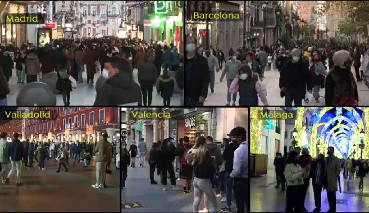 Aglomeraciones navideñas en varias ciudades que hacen temer una tercera ola del coronavirus