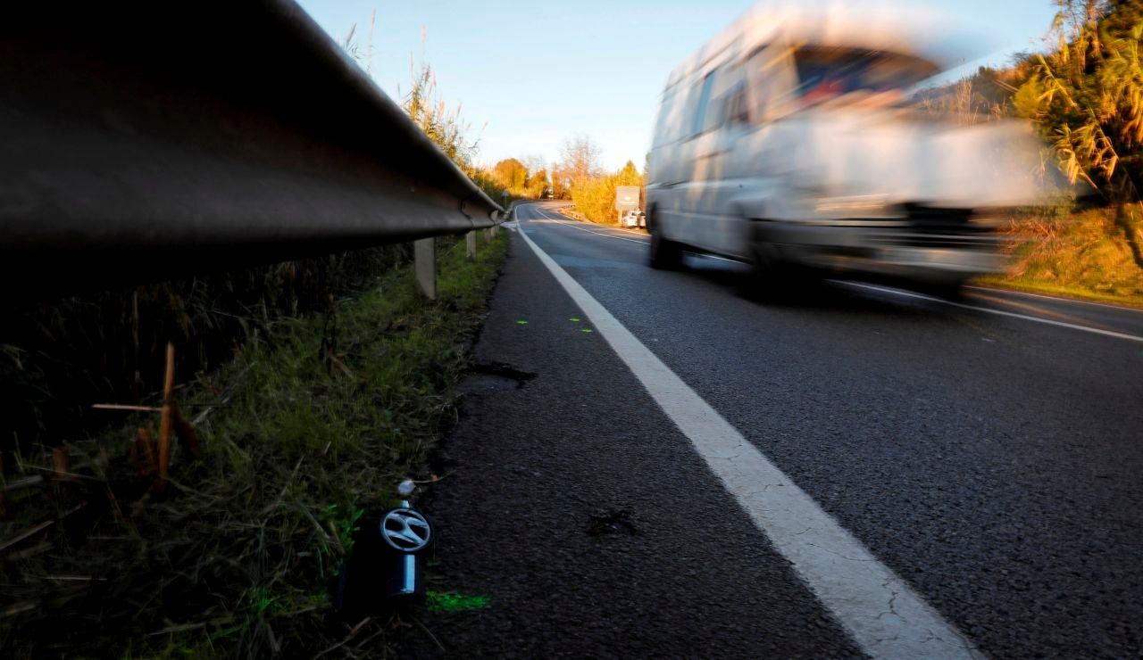 Imagen del lugar donde fueron atropellados mortalmente dos ciclistas