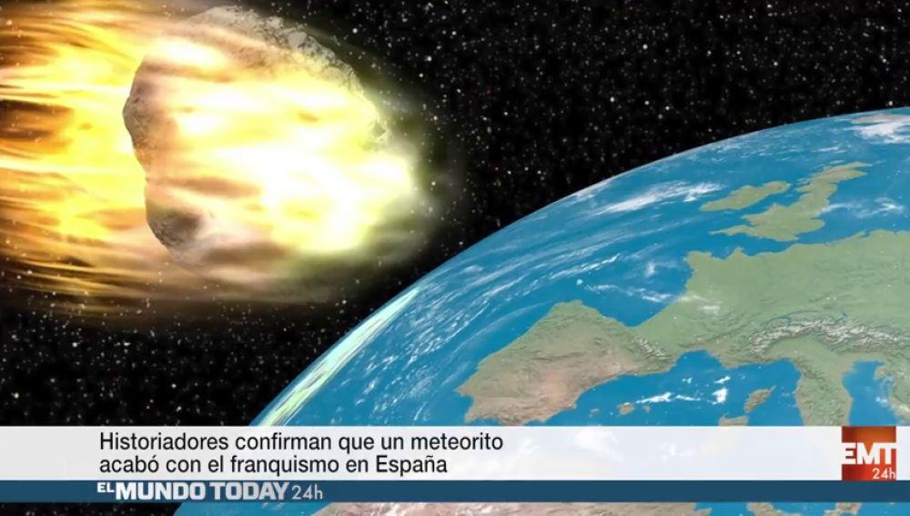 Historiadores confirman que un meteorito acabó con el franquismo en España