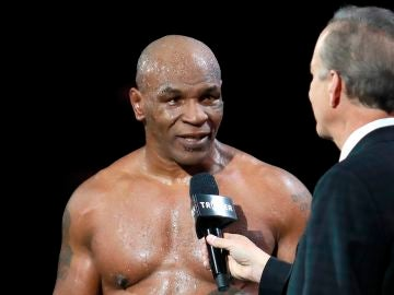 Mike Tyson, tras su combate ante Roy Jones