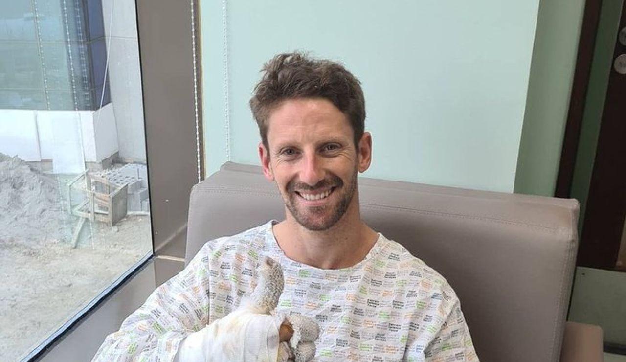El mensaje de Romain Grosjean desde el hospital tras su terrorífico accidente el GP de Baréin