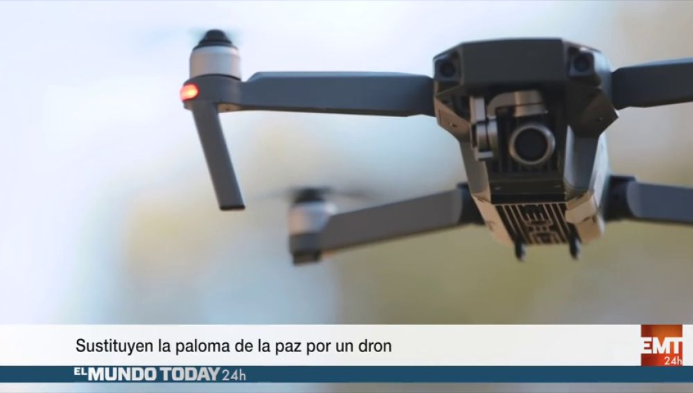 Sustituyen la paloma de la paz por un dron