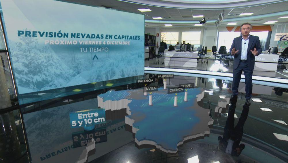Nevadas en capitales españolas