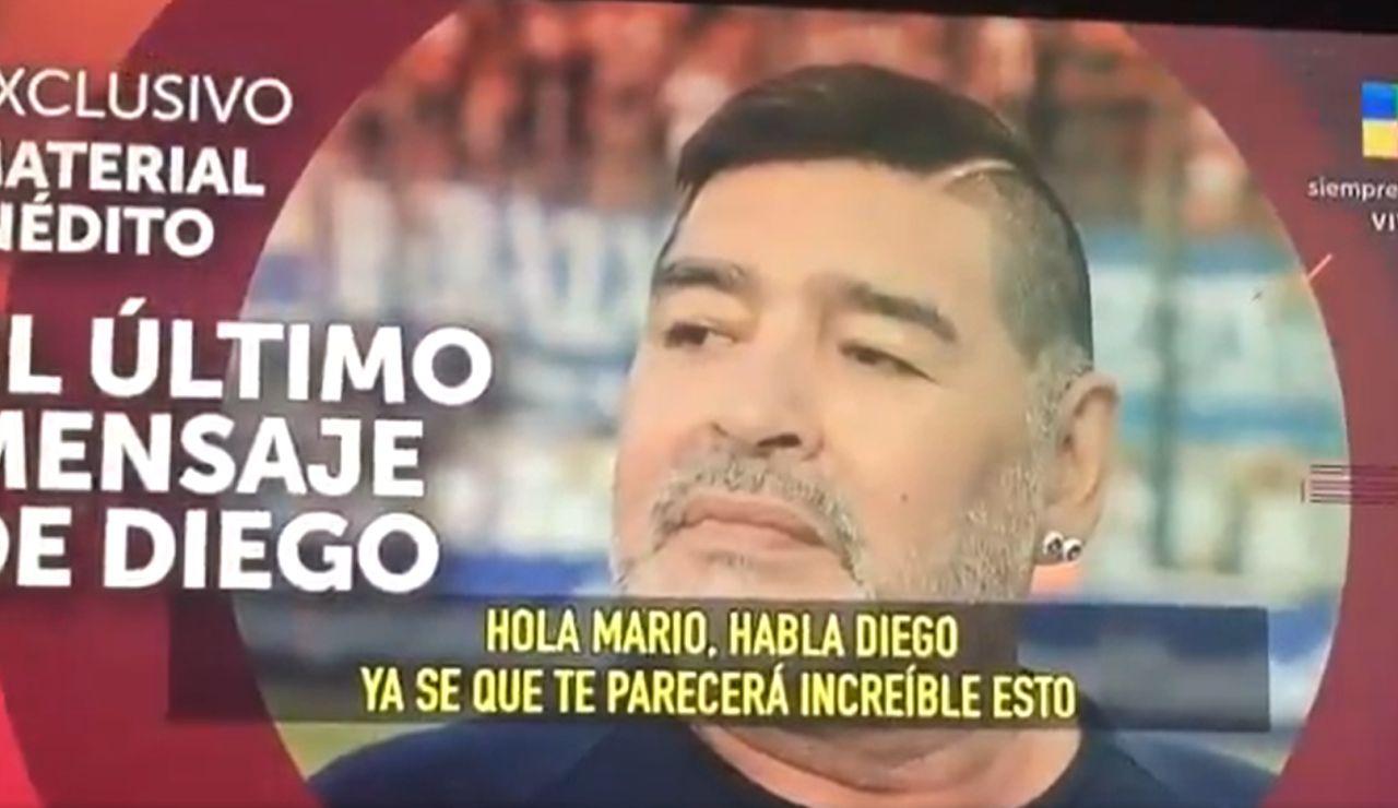 """Sale a la luz el último audio de Maradona antes de su muerte: """"Cuida de mi ángel"""""""