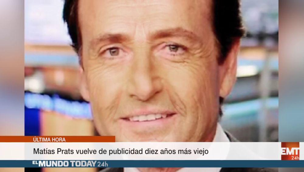 Matías Prats vuelve de publicidad diez años más viejo