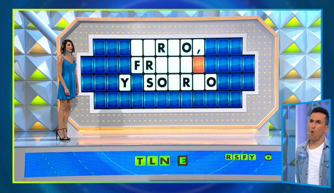La mala suerte de un concursante de 'La ruleta de la suerte' en el panel final: solo acierta una letra