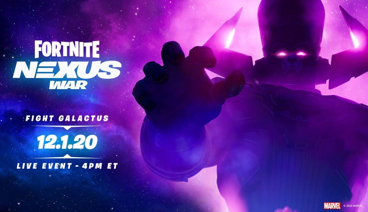 Evento Galactus de Fortnite