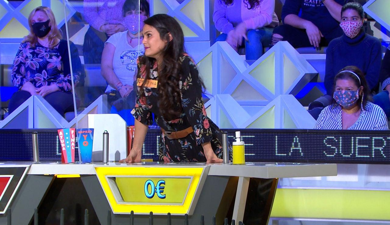 De todo a nada: Cristina pasa de la alegría a la tristeza en 'La ruleta de la suerte' por una mala decisión
