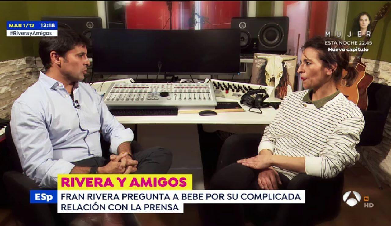 """Bebe, en su entrevista a Fran Rivera: """"Me gustaría hacer un dueto con Julio Iglesias"""""""