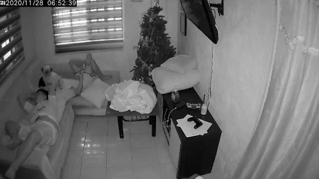 La grabación de una cámara de seguridad demuestra que un perro si se comió realmente los deberes de un niño