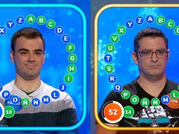 Luis y Pablo se miden en un complicado e inusual duelo: los errores deciden quién es el ganador de 'El Rosco'