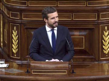 """Pablo Casado acusa a Pedro Sánchez de provocar una """"alarma de Estado"""""""