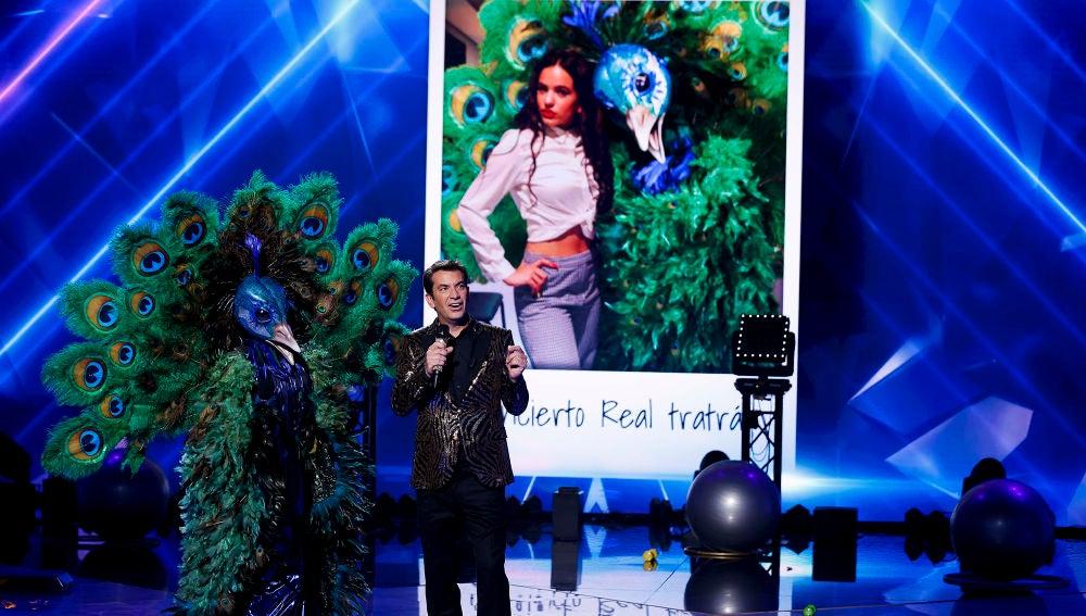 La calidad vocal de Pavo Real y una imagen junto a Rosalía divide a los investigadores de 'Mask Singer'