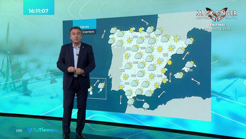Tu Tiempo (16-12-20) Lluvia fuerte al oeste de Galicia, norte de Extremadura y en el Estrecho