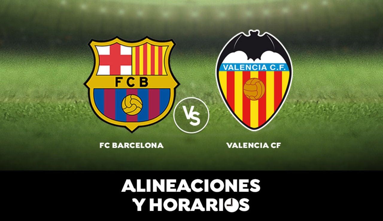 Barcelona - Valencia: Horario, alineaciones y dónde ver el partido en directo | Liga Santander