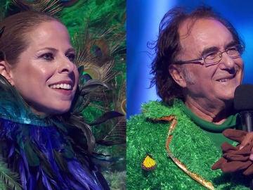 Semifinal en 'Mask Singer': Pastora Soler era el Pavo Real y Albano Carrisi era el Girasol