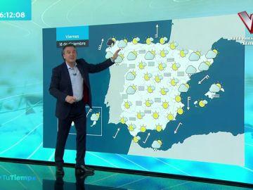 Roberto Brasero anuncia la previsión del tiempo para este fin de semana: regresan las lluvias a la Península