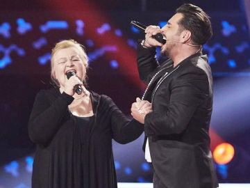 David Bustamante canta 'Nessun dorma' con Naida con en la Semifinal de 'La Voz Senior'