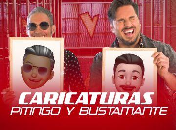 David Bustamante y Pitingo, a carcajadas tras dibujar su propia caricatura en 20 segundos