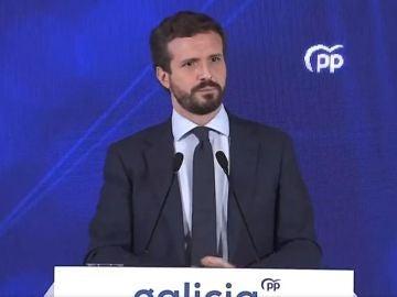 Pablo Casado, durante un acto en Galicia