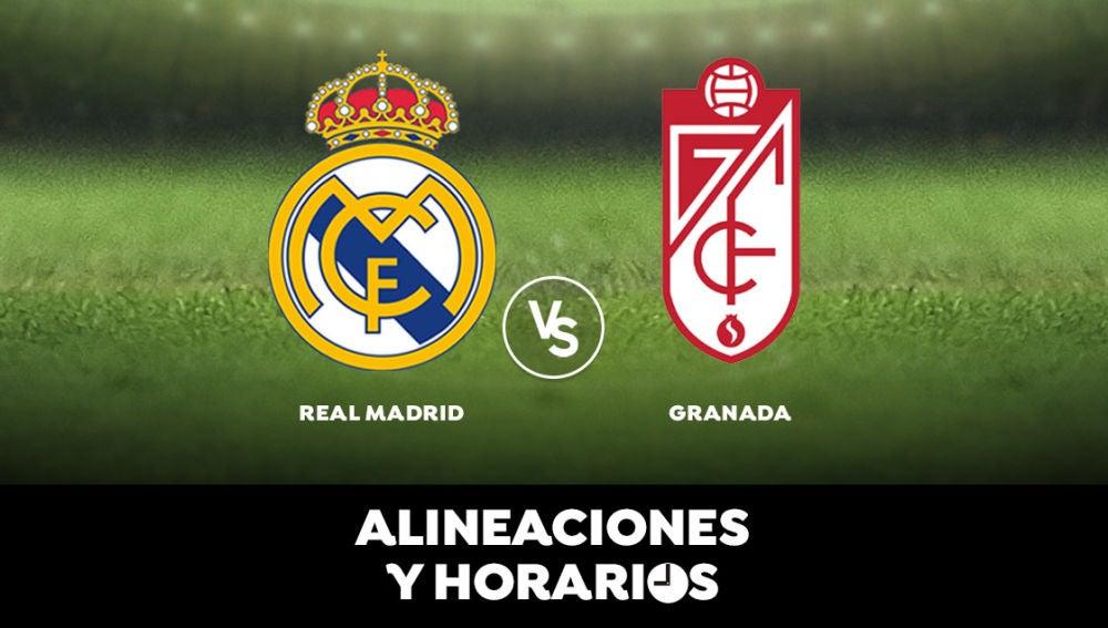 Real Madrid - Granada: Horario, alineaciones y dónde ver el partido de Liga Santander en directo