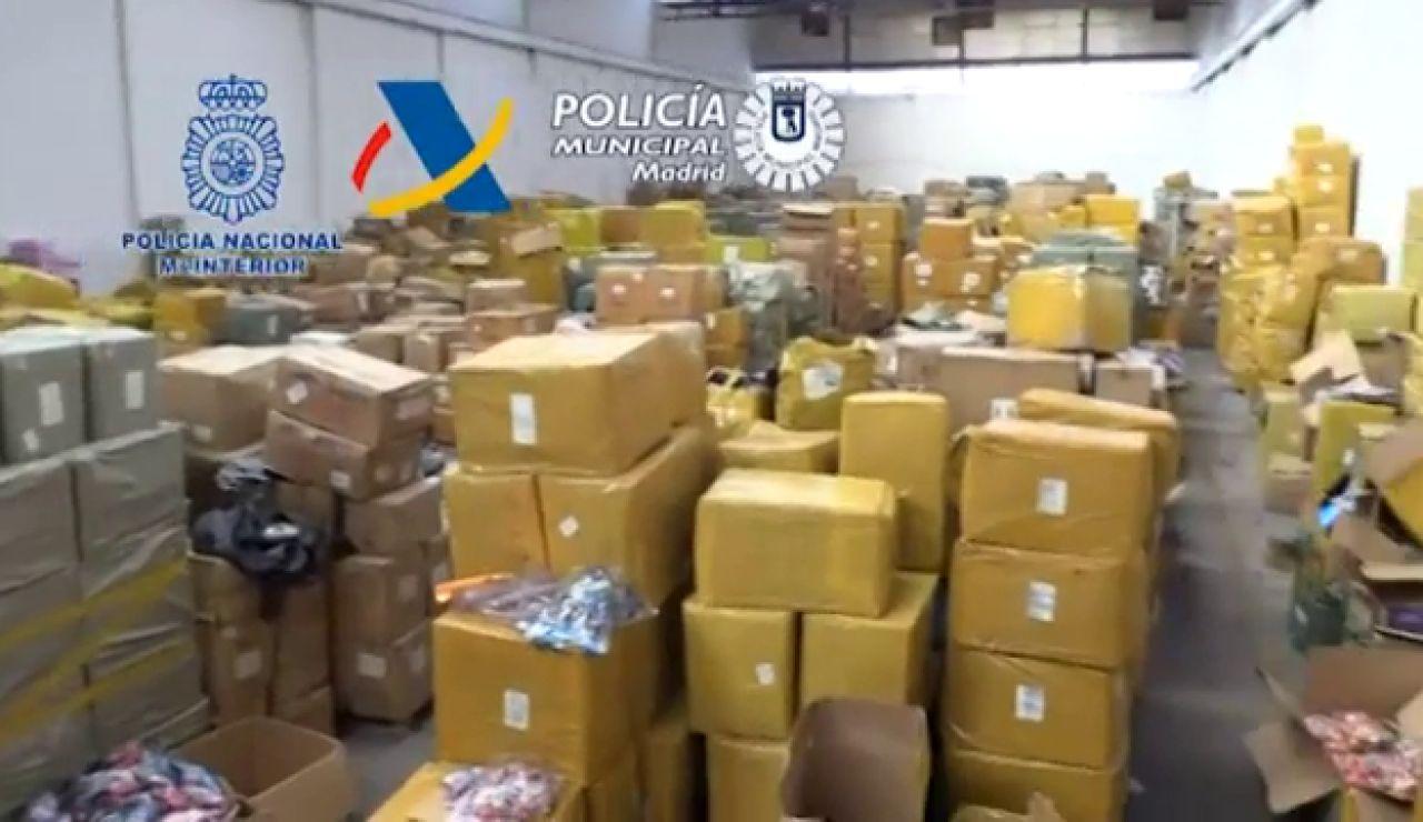 Desmantelado uno de los mayores centros ilegales de juguetes y productos sanitarios de Madrid