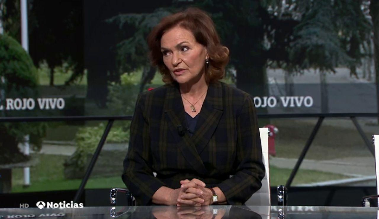 """Carmen Calvo carga contra el CGPJ: """"Ningún poder del Estado puede invadir la soberanía parlamentaria"""""""