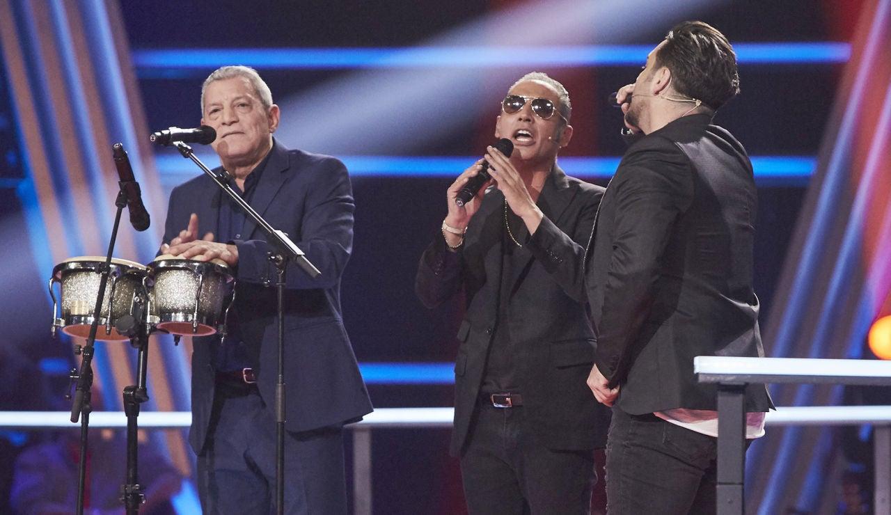 David Bustamante y Pitingo cantan 'Contigo en la distancia' con Fernando Liben en la Semifinal de 'La Voz Senior'